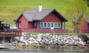 Feriehus/hytte ved Åkrafjorden ved Hardangerfjorden for 6 personer